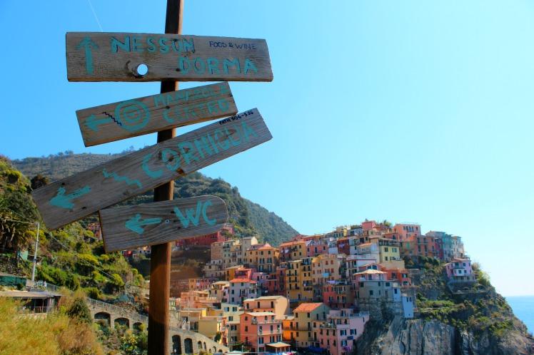 Manarola Sign, Cinque Terre, BackpacktoBeyond