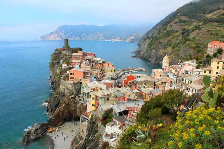 View to Vernazza, Cinque Terre, BackpacktoBeyond
